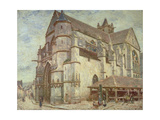 The Church at Moret, Frosty Weather, 1893 Giclee Print by Alfred Victor Fournier