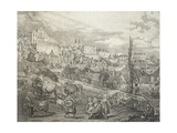 View of Warsaw, Poland 18th Century Detail Giclee Print by Bernardo Buontalenti