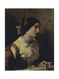 Lucia, a Lombard Woman Giclee Print by Domenico Induno