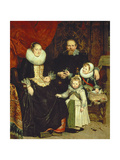 Portrait of the Artist with His Family Giclee Print by Cornelis De Wael
