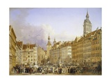 Odeonsplatz and the Theatinerkirche in Munich Giclee Print by Adelaide Labille-Guiard