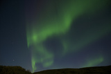 Green Curtain-Style Northern Lights, or Aurora Borealis, in a Star-Filled Sky Photographic Print by Bob Smith