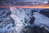 Mount Cook and the Tasman Glacier at Sunrise Photographic Print by Michael Melford