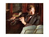 Clifford Musgrave,The Flautist Giclee Print by Diane Matthes