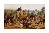 Assassination of General Quiroga, February 1835 Giclee Print by Carlos Nebel