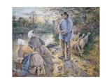 The Washerwomen, 1881 Reproduction procédé giclée par Camille Pissarro