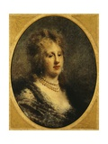 Portrait of Baroness Frankfort, 1870-1880 Giclee Print by Daniele Ranzoni