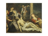 Lamentation over the Dead Christ Giclée-tryk af Antonio Balestra