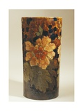 Vase with Floral Decorations, Stoneware Giclee Print by Albert Durer Lucas