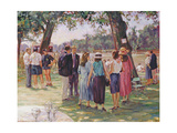 A Day at the Regatta Giclee Print by Paul Gribble