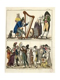 Caricature of Modern Ossian and of Street Singers, 1806 Giclee Print by Francois Pompon