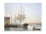 Denmark, Ships Departing from the Port of Copenaghen, 1832 Giclee Print by Daniele Ranzoni