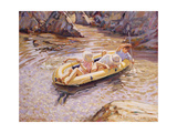 In the Dinghy Giclee Print by Paul Gribble
