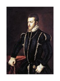 Portrait of Philip II of Spain Giclee Print by  Titian