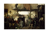 News of the Peace of Villafranca, 1862 Giclee Print by Domenico Morelli