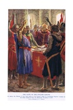 The Oath of the English Barons Giclee Print by Arthur Claude Strachan