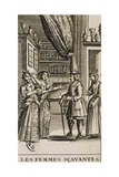 Title Page of the Learned Women by Moliere Giclee Print by Jean Valade