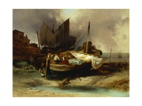 Boats on the Beach, 1840 Giclee Print by Luigi Sabatelli