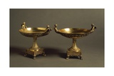 Pair of Gilded Silver Cakestands with Mythological Decoration Giclee Print by Albert Maignan