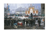 The Laying of the Cornerstone of the Galleria Vittorio Emanuele in Milan, 1865 Giclee Print by Domenico Induno