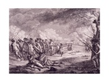 The Battle of Lexington, April 19, 1775 Giclee Print by Francois Mather