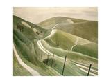 Chalk Paths Giclée-tryk af Eric Ravilious