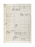 Manuscript Score for King David Giclee Print by Arthur Walker Redgate