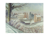 Vicarage in the Snow Giclee Print by Eric Ravilious