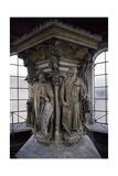 15th Century Sculptures, Detail from Interior of Calvary of Certosa, Champmol, France Giclée-Druck von Claus Sluter