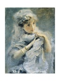 English Girl, 1880 Giclee Print by Daniele Ranzoni