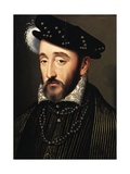 Portrait of Henry II of France, King of France Giclee Print by Francois Clouet