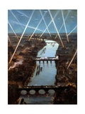 Among London Searchlights Giclee Print by Christopher Richard Wynne Nevinson