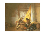 Soldiers Playing Tric-Trac, 1653 Giclee Print by German Gedovius