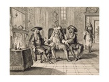Scene from Mr D. Pourceaugnac by Moliere Giclee Print by Francois Mather