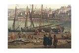 Loading Barrels of Salted Fish at the Port of Dieppe, 1765 Giclee Print by Claude Michel Clodion
