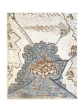 Map of Andria, Apulia Region from the Atlas Atlante Delle Locazioni, 1687-1697 Giclee Print by Antonio Bignoli