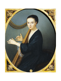Portrait of Maddalena Goujon at the Harp Giclee Print by Rudolph von Alt