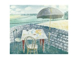 Tea at Furlongs Giclee Print by Eric Ravilious