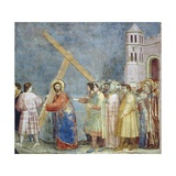 Road to Calvary, Detail from Life and Passion of Christ Giclee Print by  Giotto