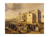Belem Monastery and Beach, Brazil 17th Century Giclee Print by Ferdinand Georg Waldmuller