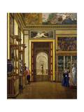 The Hall of the Jewels, the Musee Charles X at the Louvre Museum Giclee Print by Joseph Desire Court