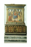 Altar with Scene known as Madonna Enthroned with Saints Reproduction procédé giclée par Cristiano Banti