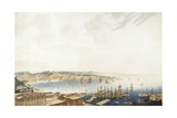 Italy, Trieste, City and Port, 1850 Giclee Print by Giuseppe De Sanctis