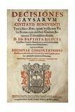 Decisiones Causorum Civitatis Beneventi, Title Page Giclée-Druck von Giovan Domenico Vinaccia