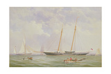 A Portrait of the 110 Ton Royal Yacht Squadron Schooner 'Viking' Off the Needles, 1863 Giclee Print by Charles Jones