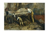 Excavations at Herculaneum Giclee Print by Filippo Palizzi