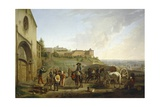 The Market in Lyon, France 19th Century Giclee Print by Francois Bouchot