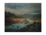 View of Suez Canal Giclee Print by Albert Williams