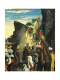 Detail from Adoration of the Magi Representing the Magi's Caravan Giclee Print by Andrea Palladio