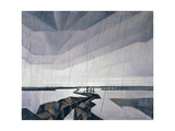 Flooded Trench on the Yser, 1916 Giclee Print by Christopher Richard Wynne Nevinson